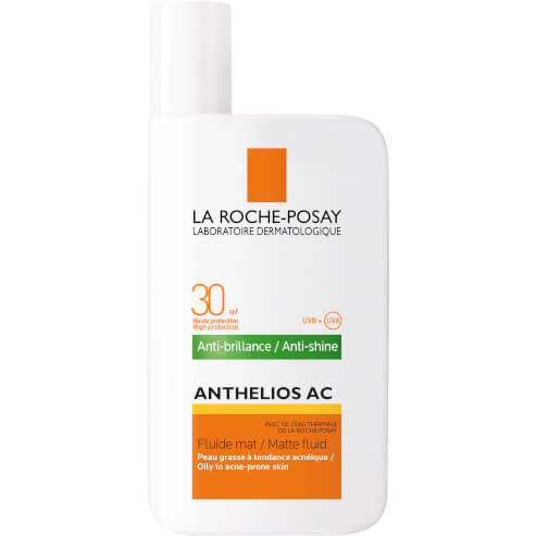 La Roche-Posay Anthelios AC Fluide Mat Spf30 Eξαιρετικά Λεπτόρρευστη Αντηλιακή Κρέμα για Επιδερμίδες με Τάση Ακμής 50ml