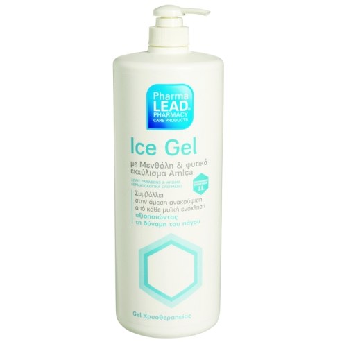 PharmaLead Ice Gel Κρυοθεραπείας με Μενθόλη & Φυτικό Εκχύλισμα Arnica για την Άμεση Ανακούφιση απο Κάθε Μυική Ενόχληση 1lt