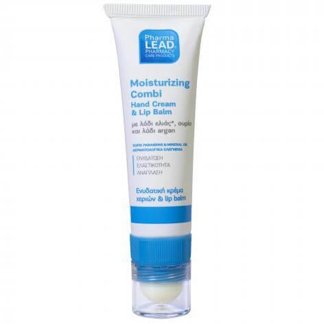 Pharmalead Moisturizing Compi Hand Cream & Lip Balm Ενυδατική Κρέμα Χεριών & Lip Balm με Λάδι Ελιάς, Ουρία & Λάδι Argan 30ml