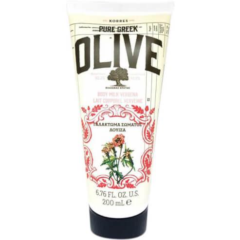 Korres Pure Greek Olive Body Milk Verbena Ενυδατικό Γαλάκτωμα με Εξαιρετικό Παρθένο Ελαιόλαδο & Άρωμα Λουίζας 200ml