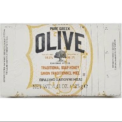 Korres Pure Greek Olive Tradional Soap Honey Παραδοσιακό Πράσινο Σαπούνι με Άρωμα Μέλι 125gr