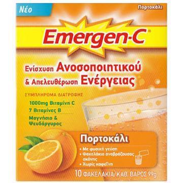 Emergen-C 1000mg Βιταμίνη C 7 Βιταμίνες Β Μαγνήσιο & Ψευδάργυρο Συμπλήρωμα Διατροφής για Ενίσχυση του Ανοσοποιητικού 10φακελάκια