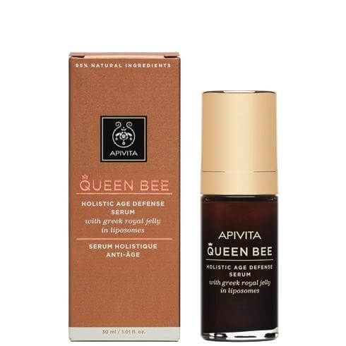 Queen Bee Holistic Age Defence Serum With Greek Royal Jelly in Liposomes 30ml - Apivita