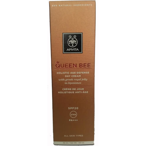 Queen Bee Holistic Age Defence Day Cream Spf20 With Greek Royal Jelly in Liposomes 50ml - Apivita