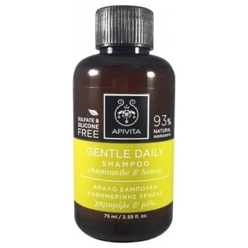 Apivita Gentle Daily Shampoo Απαλό Σαμπουάν Καθημερινής Χρήσης με Χαμομήλι & Μέλι 75ml