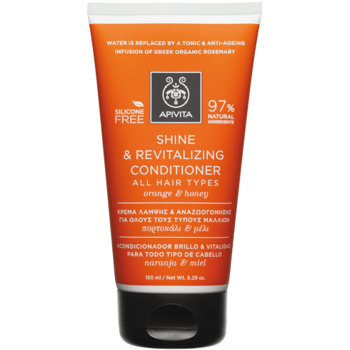 Shine & Revitalizing Conditioner For All Hair Types With Orange & Honey 150ml - Apivita