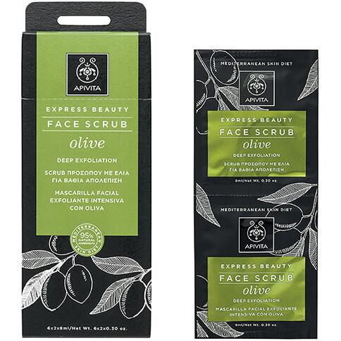 Express Beauty With Olive Κρέμα Βαθιάς Απολέπισης Με Ελιά 2x8ml - Apivita