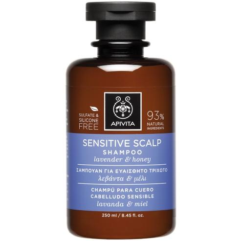 Sensitive Scalp Shampoo With Lavender & Honey 250ml - Apivita