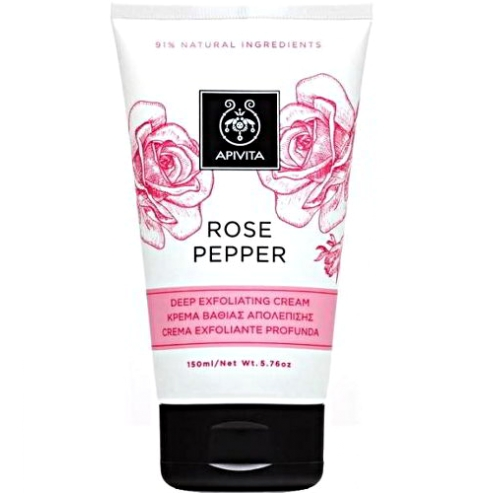Apivita Rose Pepper Κρέμα Βαθιάς Απολέπισης 150ml