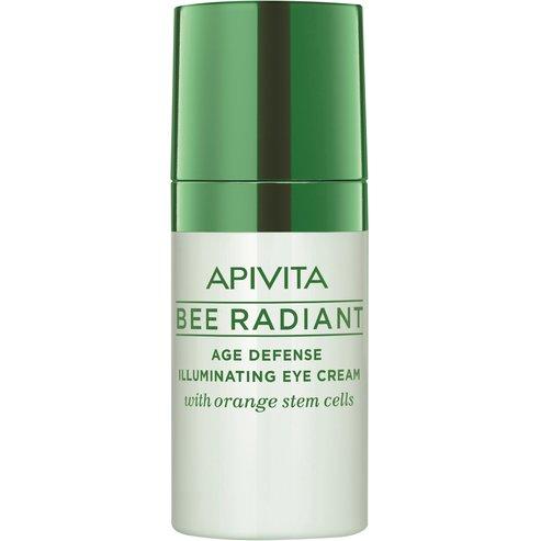 Apivita Bee Radiant Κρέμα Ματιών Αντιγήρανσης & Λάμψης με Βλαστοκύτταρα Πορτοκαλιού 15ml