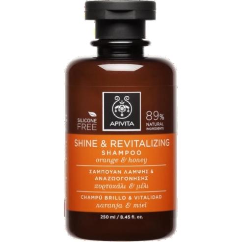 Apivita Shine & Revitalizing Σαμπουάν Λάμψης & Αναζωογόνησης με Πορτοκάλι & Μέλι 250ml