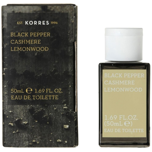 Korres Eau de Toilette Black Pepper, Cashmere & Lemonwood Ανδρικό Άρωμα 50 ml