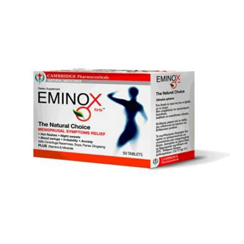 Eminox Forte Συμπλήρωμα Διατροφής για την Ανακούφιση από τα Συμπτώματα της Εμμηνόπαυσης 50Tabs