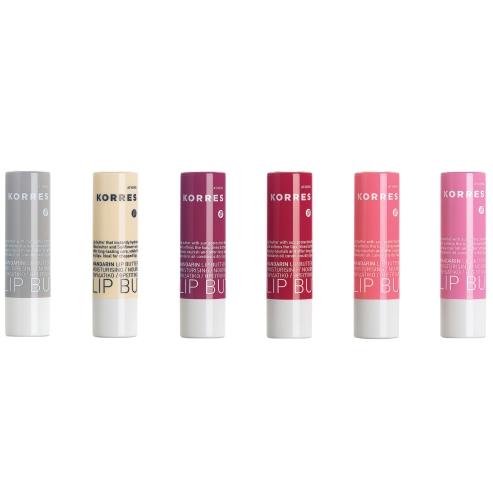 Korres Lip Butter Sticks Άμεση Ενυδάτωση & Αντηλιακή Προστασία Ιδανικό για Σκασμένα Χείλη 5ml