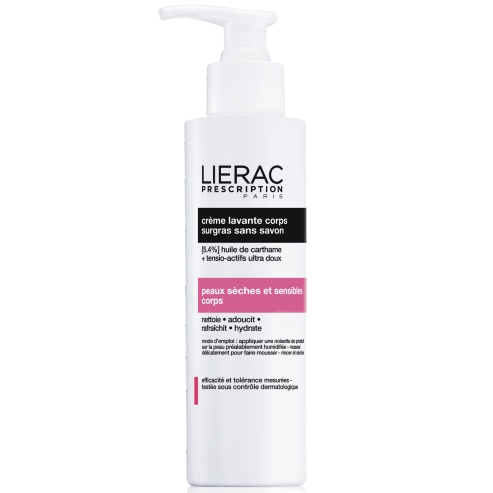 Lierac Prescription Creme Lavante Corps Κρέμα Καθαρισμού Σώματος Που Αναπληρώνει Τα Λιπίδια Χωρίς Σαπούνι 200ml