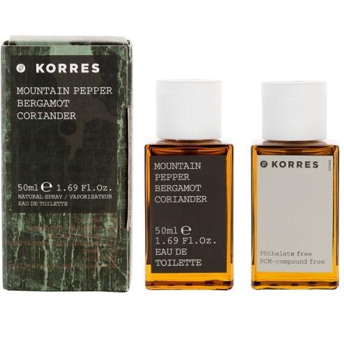 Korres Άρωμα Για Άνδρες Mountain Pepper/Bergamot/Coriander Eau de Toilette 50ml