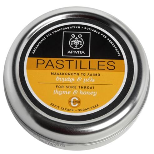 Apivita Pastilles Παστίλιες Για Τον Πονεμένο Λαιμό Με Μέλι & Θυμάρι 45g