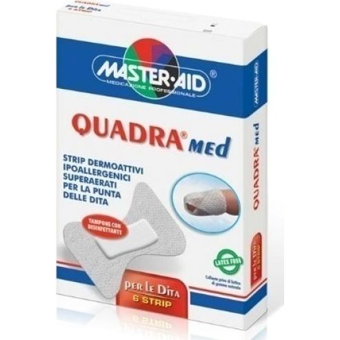 Master Aid Quadra Med Finger Бели самозалепващи се пластири- лейкопласт за пръсти 6 бр