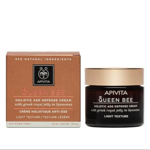 Queen Bee Holistic Age Defence Day Cream With Greek Royal Jelly in Liposomes Legere 50ml - Apivita