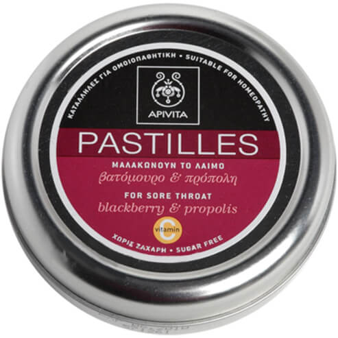 Apivita Pastilles Παστίλιες Για Τον Πονεμένο Λαιμό Με Βατόμουρο & Πρόπολη 45g