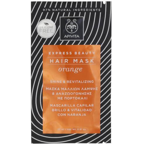 Express Beauty Hair Mask Orange Shine & Revitalizing 20ml - Apivita