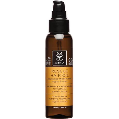 Apivita Rescue Hair Oil Λάδι Θρέψης & Επανόρθωσης για τα Μαλλιά με Αργκάν & Ελιά 100ml