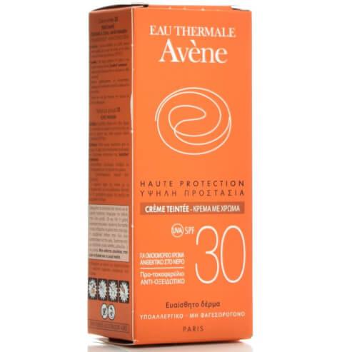 Avene High Protection Tinted Creme Spf30 Αντηλιακή Κρέμα Προσώπου με Χρώμα, Υψηλής Προστασίας 50ml