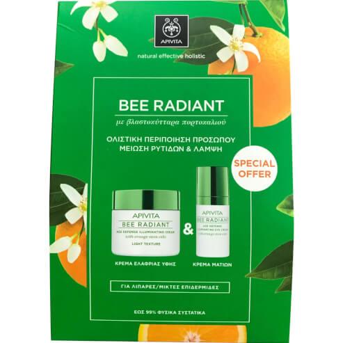 Πακέτο Προσφοράς Bee Radiant Age Illuminating Day Light Cream 50ml & Δώρο Eye Cream 15ml - Apivita