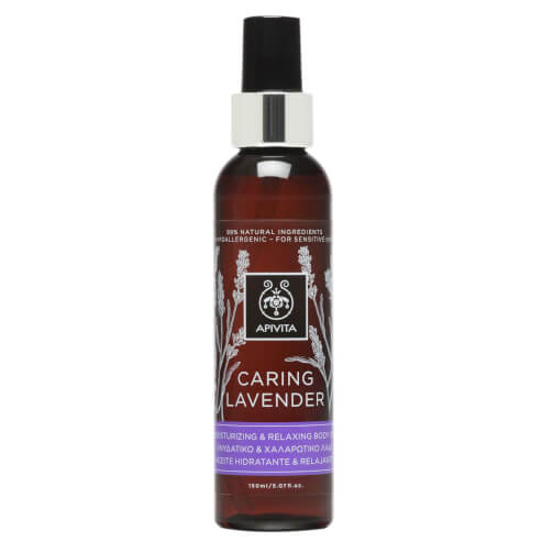 Apivita Caring Lavender Oil Ενυδατικό & Χαλαρωτικό Λάδι Σώματος με Βιολογικό Αιθέριο Έλαιο Λεβάντας 150ml