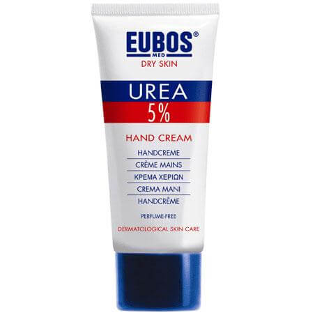 Eubos Urea 5% Hand Cream Εντατική φροντίδα για το ξηρό και σκασμένο δέρμα των χεριών 75ml
