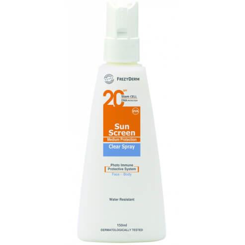 Sun Screen Clear Spray Spf20, 150ml - Frezyderm