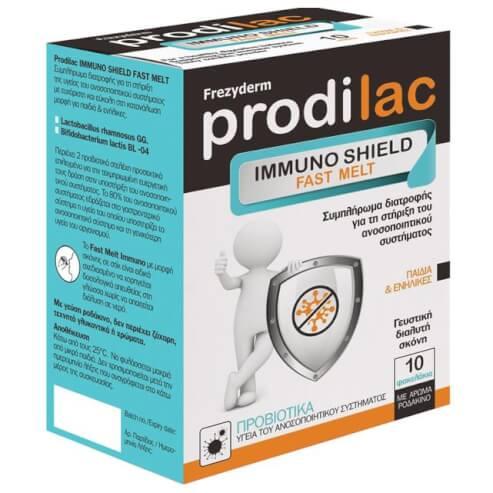 Frezyderm Prodilac Immuno Shield Fast Melt Συμπλήρωμα Διατροφής 10 Φακελάκια