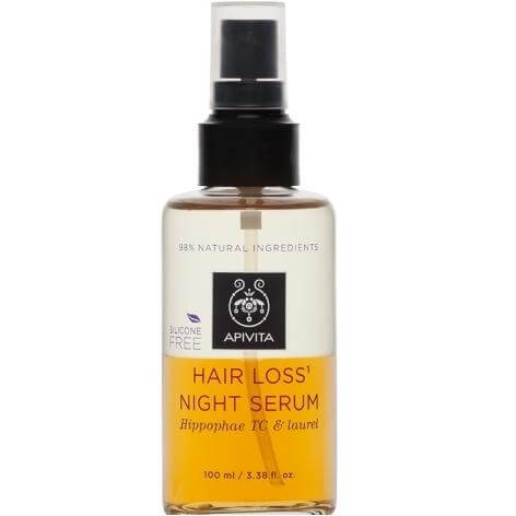 Hair Loss Night Serum With Hippophae TC & Laurel 100ml - Apivita