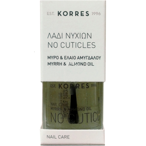 Korres No Cuticles Λάδι Νυχιών Κατά των Παρανυχίδων με Μύρο & Έλαιο Αμυγδάλου, Θρέφει, Προστατεύει & Μαλακώνει 10ml