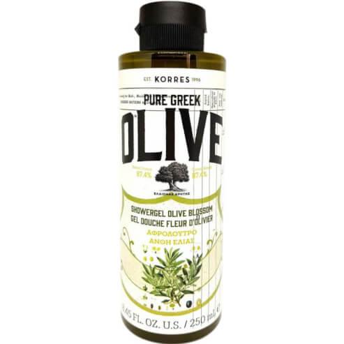 Korres Pure Greek Olive Shower Gel Olive Blossom Αφρόλουτρο με Τονωτικό Εκχύλισμα από Άνθη Ελιάς 250ml