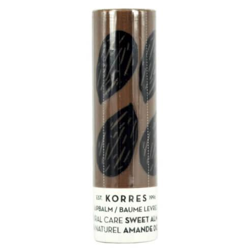 Korres LipBalm Natural Care Sweet Almond Εντατική Θρέψη & Επανόρθωση για τα Χείλη με Αμυγδαλέλαιο 5ml