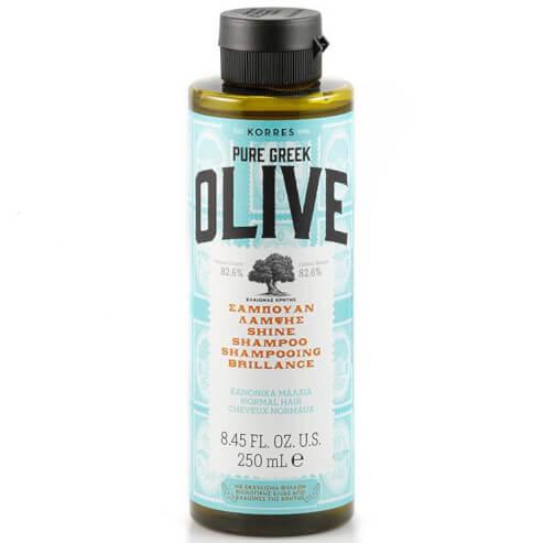 Korres Pure Greek Olive Σαμπουάν Λάμψης για Κανονικά Μαλλιά 250ml