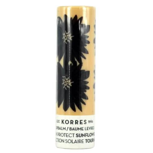 Korres LipBalm Sun Protect Sunflower Spf20 Φροντίδα Αντηλιακής Προστασίας Εντατική Θρέψη & Επανόρθωση για τα Χείλη με Ηλίανθο 5m