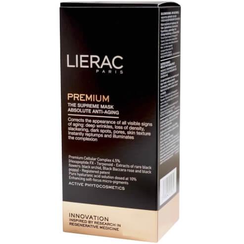 Δώρο Lierac Premium Le Masque Supreme Θεϊκή Μάσκα Απόλυτης Αντιγήρανσης και Νεότητας για Άμεση Επαναπύκνωση και Λάμψη 10ml
