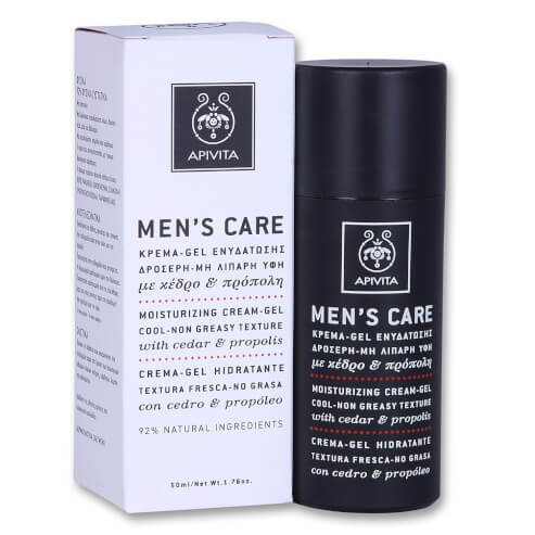 Mens Care Moisturizing Cream-Gel With Cedar & Propolis 50ml - Apivita