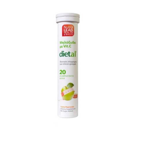 Nutralead Dietal Μηλόξυδο με Βιταμίνη C 20 αναβρ. δισκία
