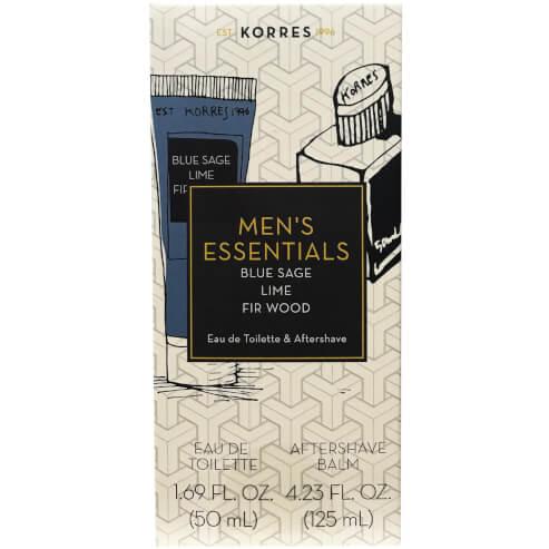 Πακέτο Προσφοράς Men\'s Essentials Blue Sage Eau de Toilette 50ml & Δώρο Aftershave Balm 125ml - Korres