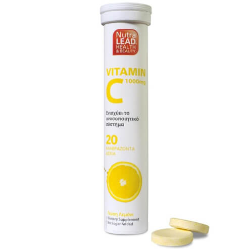 NutraLead Βιταμίνη C 1000mg Με Γεύση Λεμόνι 20Effer.Tabs