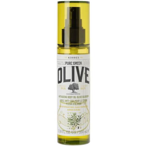 Korres Pure Greek Olive Antiageing Body Oil Olive Blossom Αντιγηραντικό Εξαιρετικά Ενυδατικό Ξηρό Λάδι Σώματος Άνθη Ελιάς 100ml