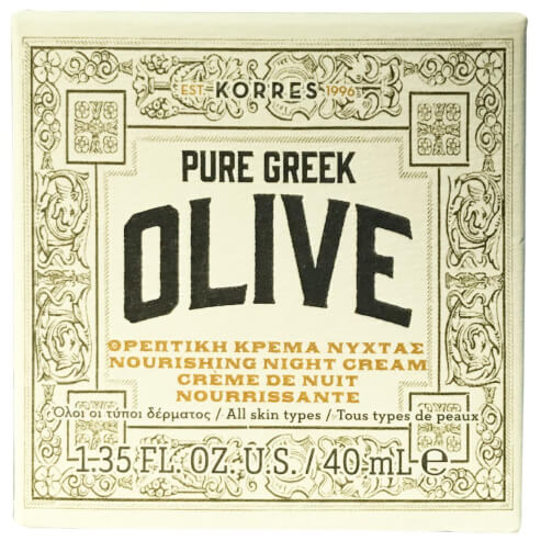 Korres Pure Greek Olive Θρεπτική Κρέμα Προσώπου Νύχτας 40ml