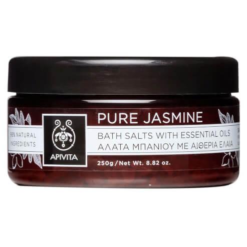 Apivita Pure Jasmine Άλατα Μπάνιου με Αιθέρια Έλαια με γιασεμί Τόνωση & αναζωογόνηση 250gr