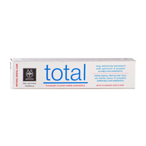 Natural Dental Care Total Toothpaste With Spearmint & Propolis 75ml - Apivita