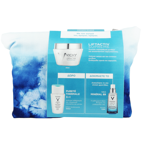 Vichy Πακέτο Προσφοράς Liftactiv Supreme Cream 50ml & Δώρο Vichy Purete Thermale 3 in 1 100ml & Mineral 89 1.5ml